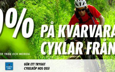 20% rabatt på kvarvarande cyklar från 2016